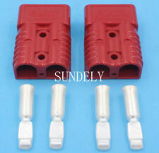 Pair of 175 AMP 175AMP Anderson Style Plugs  red Connector For Trucks,Forklift