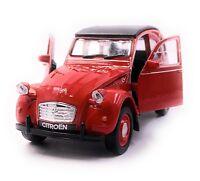 CITROËN 2CV Modellauto Auto in Rot Maßstab 1:34 (lizensiert)