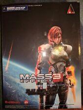Play Arts Kai Mass Effect 3 FEMALE Commander Shepard Action Figure CUSTOM FACE