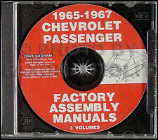 1965 1966 1967 Chevy Assembly Manual CD SS Impala Caprice Biscayne Bel Air