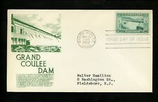 US FDC #1009 Anderson M-1 1952 Grand Coulee WA Grand Coulee Dam Anniversary