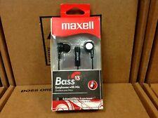 NEW: Maxell Bass 13 Earphones with Microphone BASS-BK / 199621