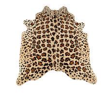 peau de vache taureau beige braunmit Animal imprimé 190 x 165 CM BŒUF Tapis