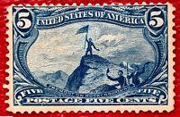1898 US Stamps SC#288 5c John Charles Well Centered Mint /no gum cv:$100