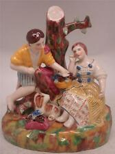Staffordshire Pottery Figure - 'The Lovers' - Man & Woman