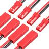 5 Paar 10 Stück Original JST BEC 2PIN Stecker Buchse 15cm Kabel Lipo Akku 20AWG