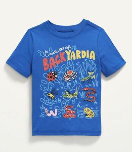 Old Navy Toddler Boy ~ Backyardia ~  Short Sleeve Tee T-Shirt ~ Size 3T … NWT