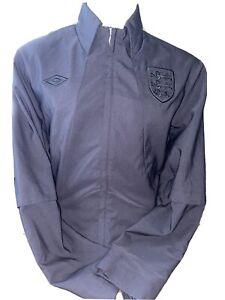 Retro Umbro England Rare Ramsey Style Blackout Anthem Jacket Sized Large