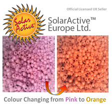 100 SolarActive® UV Colour Changing Pony Beads PINK TO ORANGE - CPSIA certified