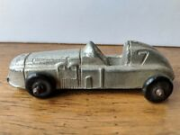 Vintage Diecast Silver Midgetoy Boattail Indy Race Car Speedster #7 Made in USA