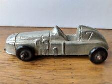 Vintage Diecast Silver Midgetoy Boattail Indy Race Car Speedster #7 Made in USA