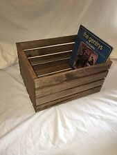 Medium Stained Rustic Wood Crates/ Boxes. New hand made