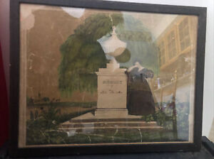 EARLY 19th c Antique Framed Family death Memorial Memory Victorian or Earlier