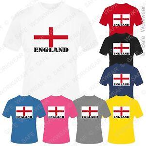 Children ENGLAND Flag Tshirt - UK Union Jack English T-shirt - Boys Girls Unisex