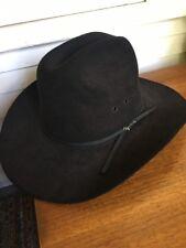 VINTAGE STETSON 4X BEAVER  FUR FELT COWBOY HAT BLACK Size 7