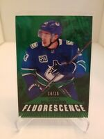 2019-20 UD Series 2 Emerald Fluorescence Vancouver Canucks Quinn Hughes 14/15