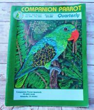 Vintage 2002 ✅ Companion Parrot Quarterly Magazine ✅ Cockatoo Aggression & More!