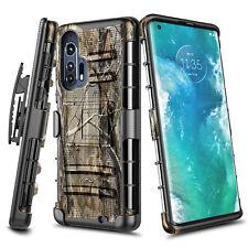 For Motorola Moto Edge Plus Case Armor Belt Clip Holster Kickstand Phone Cover
