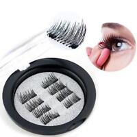 8Pcs/4 Pairs 3D Magnetic Reusable False Eyelashes Natural Eye Lashes Exte New