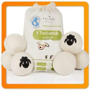 Öko Tocknerbälle aus Wolle Waschball Waschbälle für Trockner 100% Schafswolle