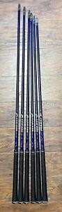 Project X Graphite Iron Shaft Set W/ Grips - .355 - Senior Flex - Excellent