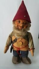 "1950's Vintage RARE Original Steiff Gnome ""Gucki"", 7""H, with Tab and Button"