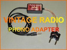 VINTAGE OLD RADIO TUBE MP3 ADAPTER IPOD IPHONE SMARTPHONE GRUNDIG PHILIPS ETC.