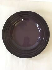Cassis Purple Le Creuset Salad Plate Stoneware 10-Inch Rimmed New