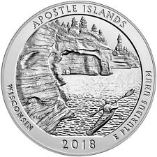 2018 ATB 5oz Silver Apostle Islands National Lakeshore Bullion Coin