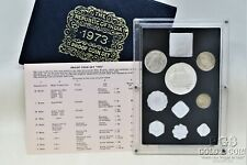 1973 Republic of India Proof Coin Set 9 Silver Proof Coins with COA & Pkg 19267