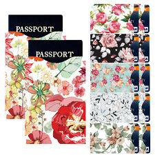 I3C RFID Blocking 10 ID/Credit Card & 2 Passport Holder Protector Sleeves Flower