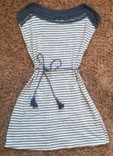 Ya Los Angeles Blue White Striped Summer Spring Soft Dress Tunic Women's Medium