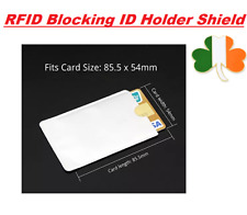 3 x Credit Card Protector Secure Sleeves RFID Blocking ID Holder Foil Shield