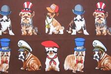 Who's Your Doggie? Dog Hat Moustache Kanvas Studio Benartex Fabric Yard
