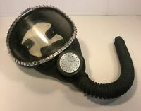 MSA Clearvue American Industrial Respirator / Gas Mask - Green Rubber, VTG 1950s