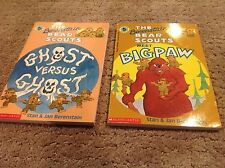 The Berenstain Bear Scouts Chapter Books(Lot of 2) Meet Bigpaw & Ghost Vs. Ghost