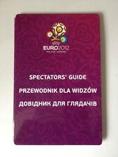 UEFA EURO 2012 POLAND & UKRAINE FOOTBALL SPECTATORS GUIDE PRZEWODNIK DLA WIDZOW
