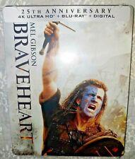 Braveheart [New 4K Uhd, Blu-ray, Digital) 4K Mastering, 25th Anniversary 1995