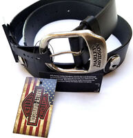 Harley-Davidson Men's Black Leather Motorcycle Harley Belt Willie G Skull