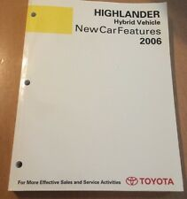 Highlander Hybrid Vehicle New Car Features 2006