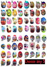 NEW Any 5  Surprise Egg With TOY, Candy, Stickers ..!!!!!!