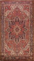 Vintage Excellent Traditional Area Rug Hand-Knotted Oriental Wool Carpet 7x10