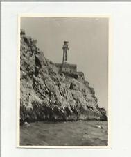 91900 FOTOGRAFIA FOTO ORIGINALE IMPORTANTE FARO DI CAPRI ANNO 1960