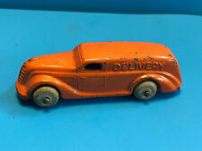 Old Vtg Collectible Lead Slush Delivery Van Truck Vehicle White Tires