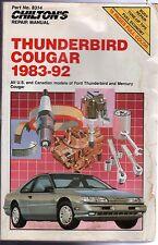 Ford Thunderbird-Mercury Cougar, 1983-92 by Chilton Automotive (CHD1217)