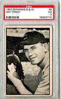 1953 Bowman Black & White Dee Fondy #5 PSA 3 P765