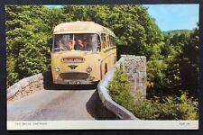 Vintage Postcard - Devon #B05 - RP - Yellow Coach Bus - Wallace Arnold