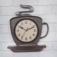 Wall Clock - COFFEE CUP Design - 32cm High