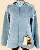 Under Armour Womens Small Teal Blue Full Zip Hoodie Sweater New Tags retail $100