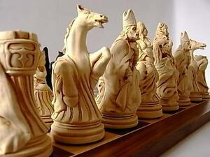 A magnificent versailles louis XIV Chess Set of game pieces in a vintage style